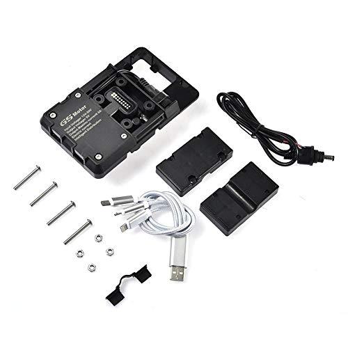 Soporte para Teléfono para Motocicleta con Cargador USB para Motocicleta BMW R1200GS...