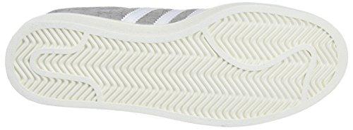 adidas Damen Campus Sneaker Grau (Mgh Solid Grey/Footwear White/Gold Metallic)