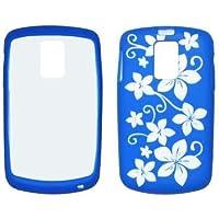 Blu e Bianco Hawaii fiori custodia in gel di silicone per Samsung jack I637[di esportazione marca]