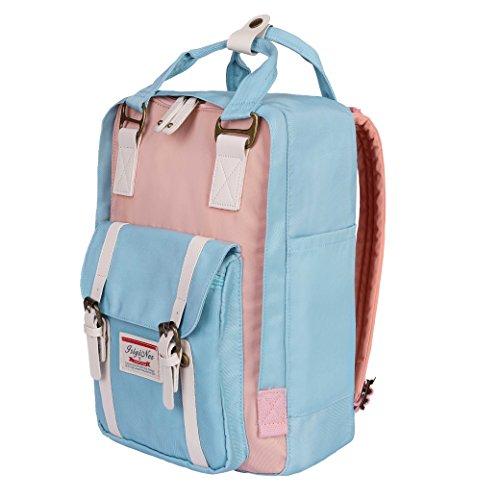 Preisvergleich Produktbild Backpack Wasserdichter Rucksack ISIYINER Laptop Daypack Teenager Schule Tasche Nylon Outdoor Frauen Rucksack für Sport Reisen Einkaufen Camping Wandern mit Laptop Fach