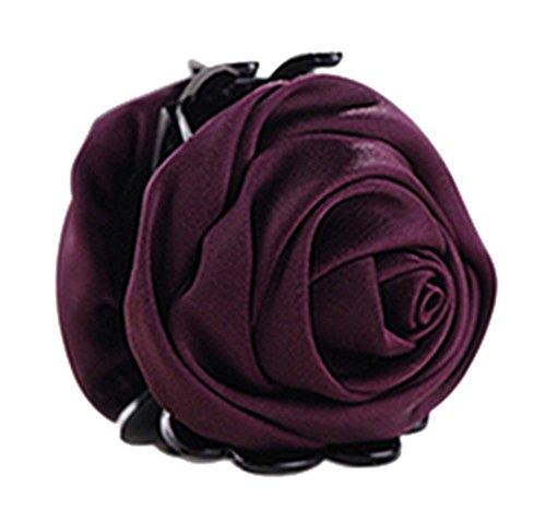 un Belles Clips Rose Fleur Cheveux Ponytail clip, violet