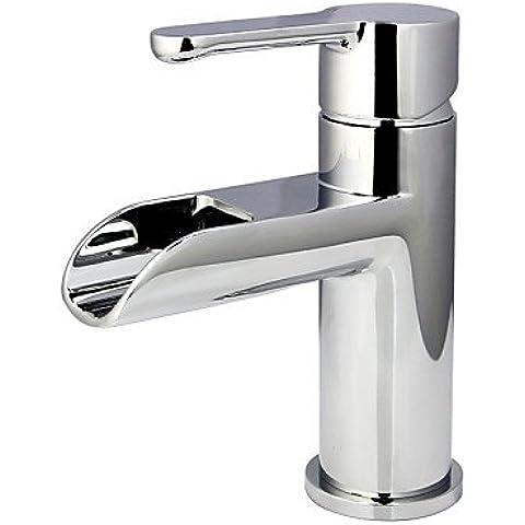 XMQC*Vasca da bagno lavandino Rubinetto Rubinetto 1 Maniglia in ottone cromato110983FER CP