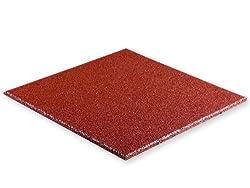 Waschmaschinen-Unterlage - Antivibrationsmatte - Schwingungsdämpfer - aus Gummigranulat (rot)