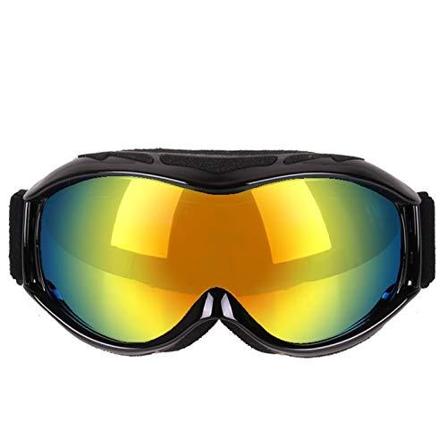 DOLOVE Schneebrille für Brillenträger Sportbrille Polarisiert Unisex Schutzbrille Beschlagfrei Sonnenbrille Damen Schwarz