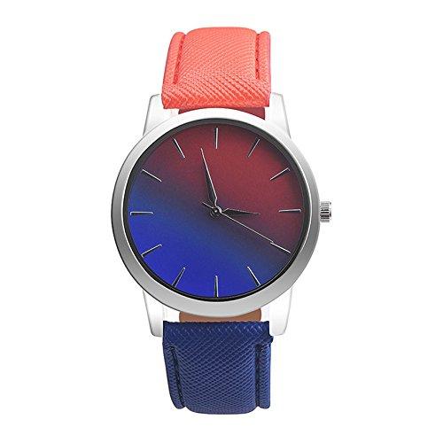 Sonnena Damen Armbanduhren, Mode Frauen Rainbow Design Armband Analoge Legierung Quarz Armbanduhr Uhren Damenuhr Outdoor Minimalistische Ultra-flach Uhrenarmband Uhr Wrist Watch (B)