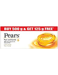 Pears Moisturising Bathing Bar Soap with Glycerine Pure & Gentle For Golden Glow (125g x 5)