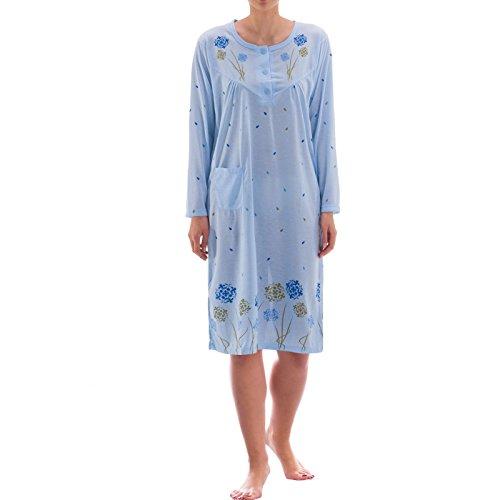 lucky-bigshirt-manches-longues-chat-chaton-schlafshirt-hiver-teenie-big-t-shirt-bleu-bleu-x-large