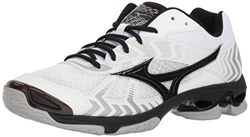 Mizuno Wave Bolt 7 Volleyball Shoes, White/Black, Men's 15 D US