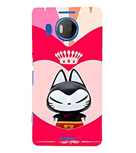 EPICCASE Royal kitty Mobile Back Case Cover For Microsoft Lumia 950 XL (Designer Case)