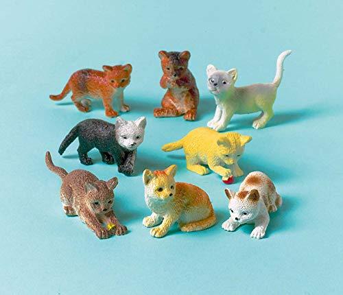 amscan INT390252 12 Katzen aus Kunststoff, Mehrfarbig