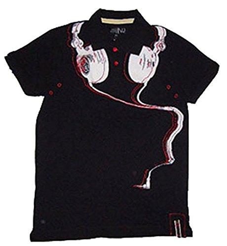 VSCT DJ Polo Shirt mit Knopfleiste und exklusiven Siebdruckdesign, Weiches, strapazierfähiges Material aus 100% Baumwolle, Cooler Look & bequeme Passform für Komfort & Beweglichkeit, Schwarz Schwarz
