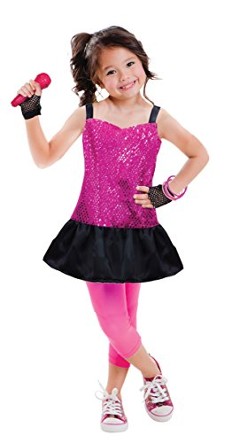 Girls Rock Star Costume Set (7 pcs) Age 5/6 - with accessories