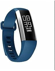 Intelligent sport Bracelet montre Bluetooth fréquence cardiaque surveillance Smartwatch,Compteur de pas,Surveillance de sommeil,d'Activité Fitness,Anti-perdu fonction,caoutchouc souple,pour Téléphone Android Samsung/Huawei