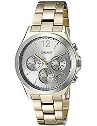 DKNY  NY2452 - Reloj de cuarzo con correa de acero inoxidable para mujer, color gris