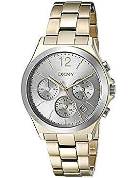 DKNY Damen-Armbanduhr Analog Quarz Edelstahl NY2452