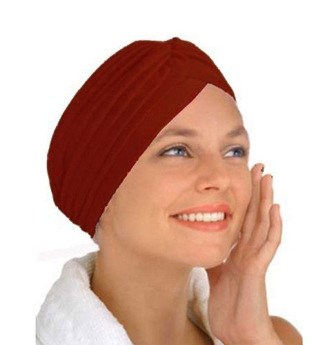 Wine Turban by CoverYourHair