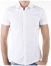 KAYHAN chemises à manches courtes-homme-slim fit 10 coloris au choix pour femme s-xL facile à repasser