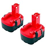 Moticett 2X 14.4V 3.0Ah de Remplacement pour Bosch Batterie Ni-MH BAT038 BAT040 BAT041 BAT140 BAT159 2607335685 2607335533 2607335276 2607335275 PSR 1440 PSR 14.4 PSR 14.4-2 GSR 14.4VE-2