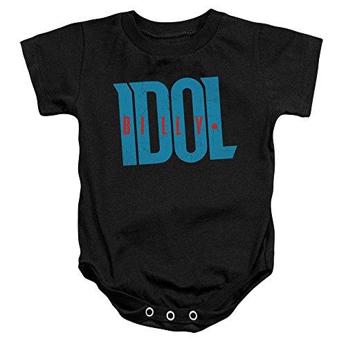 Billy Idol - - Toddler Logo Onesie, 6 Months, Black