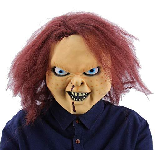 Latex-Maske Für Halloween, Horror-Ghost-Face-Maske, Filmmaske, Horror-Kopf-Maske, Prank-Maske Gesicht Beängstigend Halloween-Kostüm-Party, Bar, Maskerade