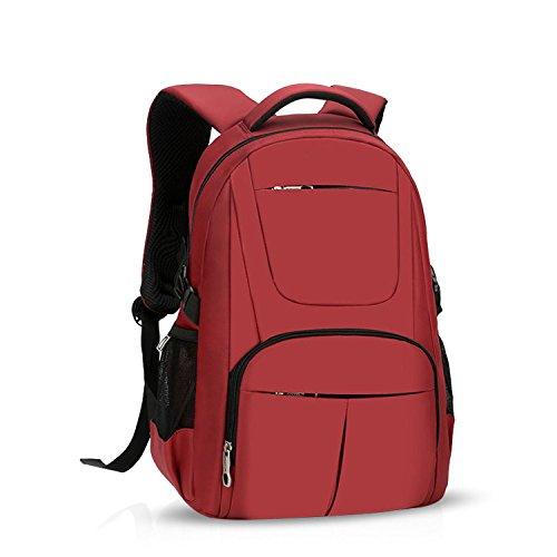 ZMLSXU Le Commerce de la Mode Sac à Dos Laptop Backpack Hommes et Femmes Multipurpose USB Port Sac à Dos Rouge
