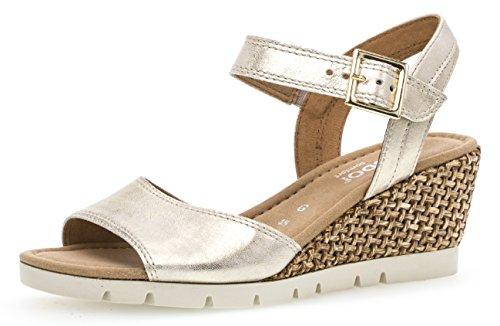 Gabor Nieve Womens Wedge Heel Sandalen 7.5 UK/ 41.5 EU Powder Metallic Plat Womens Heels