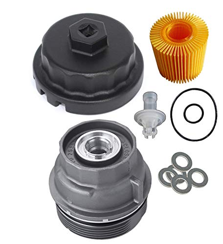 OxoxO 15620-31060 Oil Filter Cap Wrench 04152-YZZA5 Replaceable Oil Filter  with Oil Drain Plug Gaskets for Toyota Lexus Highlander Scion Avalon Rav4