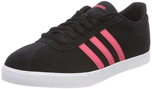 Schuhe Frauen Schwarze Adidas (adidas Damen Courtset Fitnessschuhe, Schwarz (Core Black/Real Pink S18/Ftwr Wht), 39 1/3 EU)