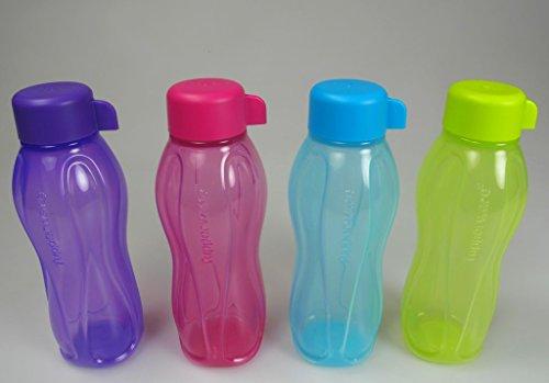 tupperware-juego-4-4-x-certificado-de-botella-de-agua-morado-rosa-limas-verde-turquesa-ecoeasy-310-m