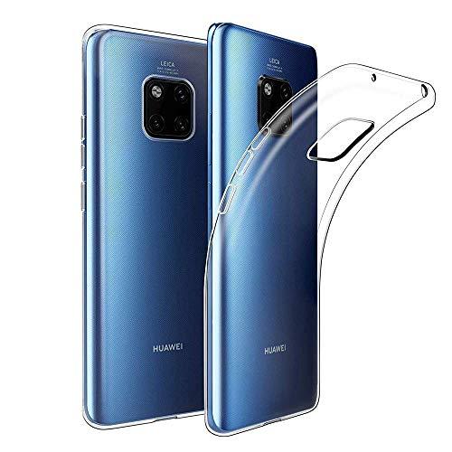 Amonke Hülle Für Huawei Mate 20 Pro, Silikon Transparent Handyhülle für Huawei Mate 20 Pro, Ultra Dünn Durchsichtige TPU Schutzhülle Huawei Mate 20 Pro (6,39 Zoll) -