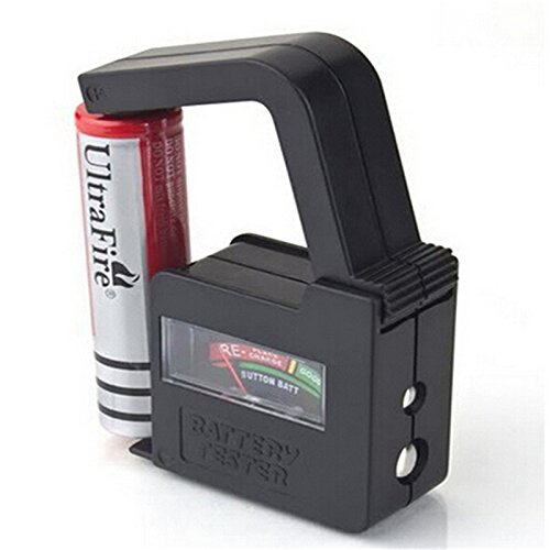 Happy GiftMart Universal Battery Tester / Battery Checker (Requires No Power) Easy to Read Analog Display- AA AAA C D 9V Button CheckMini