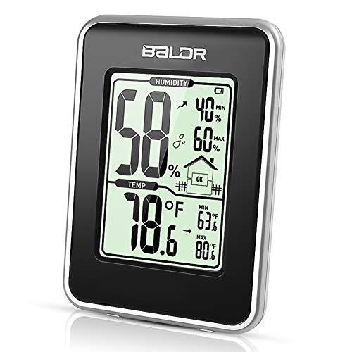Zimmer LCD Digital Innen Thermometer Hygrometer Luftfeuchtigkeit Max Min DE