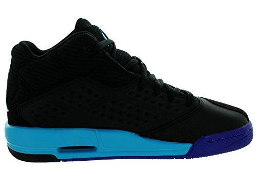 Nike Jordan New School Bg, Chaussures de Sport Garçon, Bleu Multicolore - Negro / Azul (Black / Blue Lagoon-Brght Cncrd)