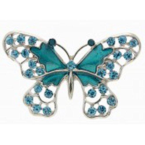 Turchese a forma di farfalla con strass matrimonio spilla Pin
