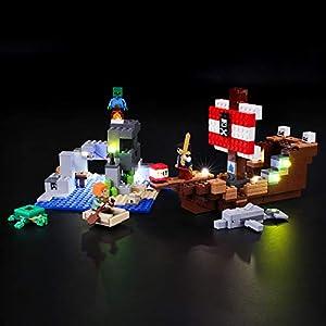 BRIKSMAX Kit di Illuminazione a LED per Lego Avventura sul galeone dei Pirati,Compatibile con Il Modello Lego 21152… Lego Outlet LEGO