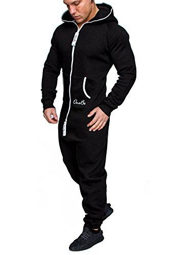 OneBe Herren Overall Jumpsuit Onesie Jogging Sportanzug Trainingsanzug Jogginganzug 3003