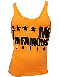 F*** Me I'm Famous: Camiseta sin Mangas con Logo Classico Neon