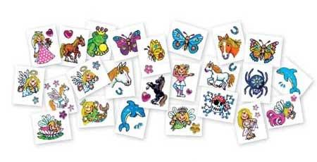12 Diamant Tattoos von Lutz Mauder // Sticker glitzer Glitter Tattoo Kindertattoo Prinzessin Pony Pferd Delfin Mädchen Elfe Schmetterling Herz Strass (Herz & Schmetterling Tattoos)