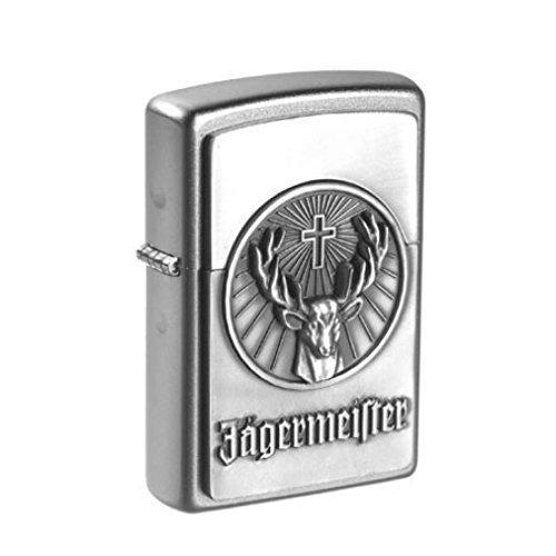 Original Zippo mit Jägermeister Emblem und Schriftzug