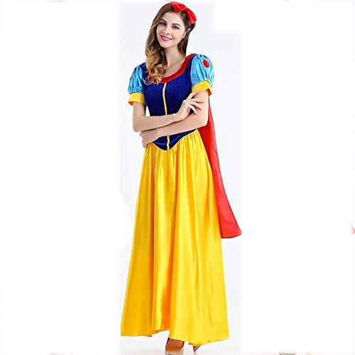 Olydmsky karnevalskostüme Damen Halloween Kostüme Snow White Dress up Mädchen Spiel einheitlichen Anzug Party Kostüm (Snow White Dress Up Kostüm)