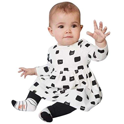 URSING-1Set-Kind-Sugling-Baby-Mdchen-niedlich-Kleid-Katze-Drucken-zur-Seite-fahren-Lange-rmel-T-Shirts-schn-Tops-weich-Gamaschen-Hose-Outfits-Kleider-Set