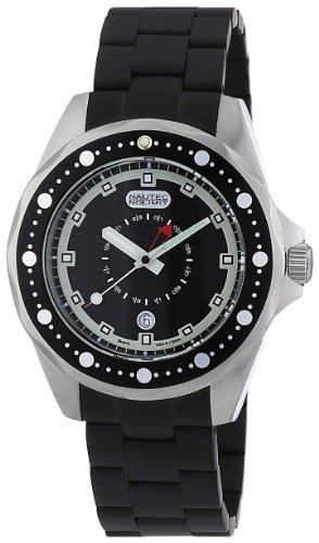 Nautec No Limit Herren-Armbanduhr Orca OC QZ-GMT/IPSTBKBK