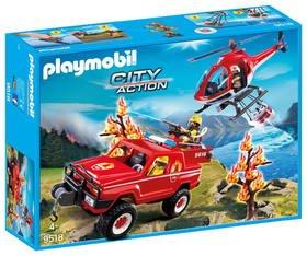 PLAYMOBIL 9518 Feuerwehr-Waldbrandeinsatz