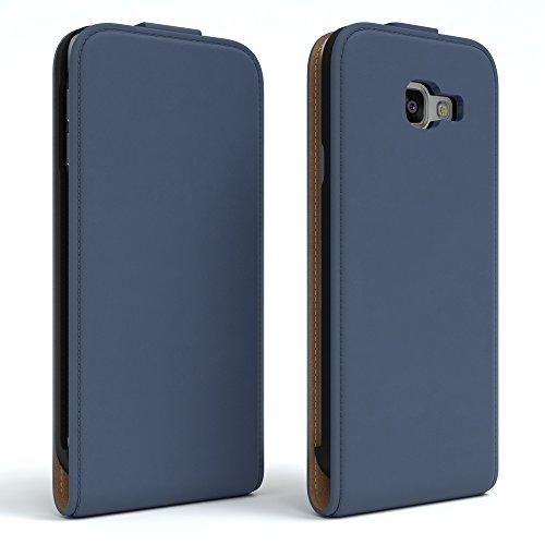 Samsung Galaxy A3 (2016) Hülle - EAZY CASE Premium Flip Case Handyhülle - Schutzhülle aus Leder zum Aufklappen in Rot Dunkelblau