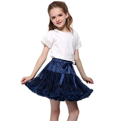 OverDose Mode Kleinkind Baby Mädchen Net Garn Prinzessin Rock Hauch Rock TuTu Rock tütü Prinzessin Skirt Weihnachten Party Rock Weihnachtskostüm(0-2T/60-80CM,A-Dunkelblau)