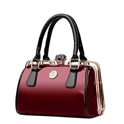 BOOREO Berühmte Designer GroßeFrauen Handtasche Patent Umhängetaschen Diamanten Damen Große Kapazität Tote Umhängetaschen - Patent Shopper Tote