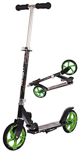 Hudora 14928 - Scooter grün/schwarz Big Wheel Ø 205mm
