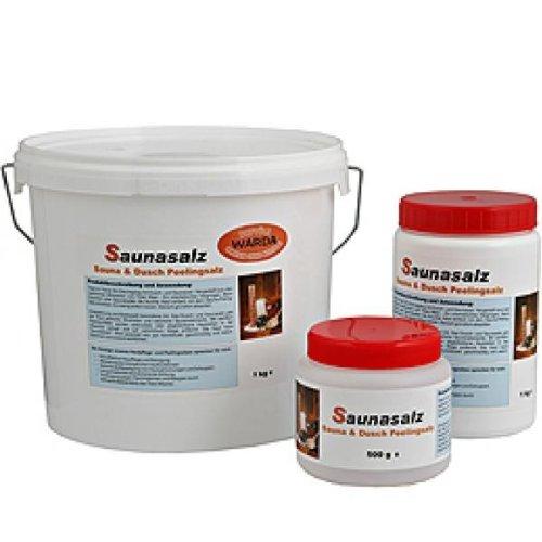 Warda Totes Meer Salz grob, Saunasalz, Duschsalz, parfümfrei 5kg Eimer, für Sauna & Dusche, Peeling