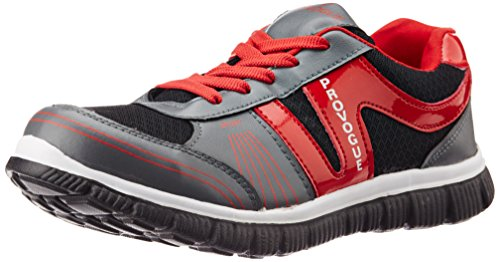 Provogue Men's Grey and Red Running Shoes - 6 UK