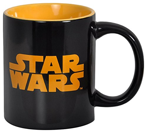 Star Wars Logo Keramik Tasse Kaffebecher 300ml schwarz orange
